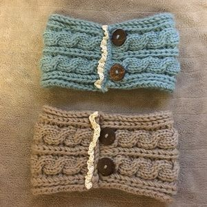 2 Lace Crochet Headbands